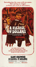 "Movie Posters:Western, A Fistful of Dollars (United Artists, 1964). Three Sheet (41"" X 81""). Sergio Leone's film was inspired by Akira Kurosawa's ""..."