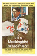 "Movie Posters:Drama, To Kill a Mockingbird (Universal, 1963). One Sheet (27"" X 41"").Gregory Peck won his Oscar for playing Atticus Finch, the co..."