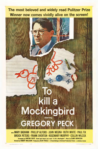 "To Kill a Mockingbird (Universal, 1963). One Sheet (27"" X 41""). Gregory Peck won his Oscar for playing Atticus..."