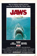 """Movie Posters:Horror, Jaws (Universal, 1975). One Sheet (27"""" X 41""""). The quintessential modern horror film is directed by Steven Spielberg and sta..."""