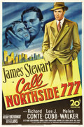 """Movie Posters:Film Noir, Call Northside 777 (20th Century Fox, 1948). One Sheet (27"""" X 41"""").The beautiful stone litho artwork of James Stewart, who ..."""