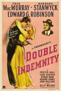 "Movie Posters:Film Noir, Double Indemnity (Paramount, 1944). One Sheet (27"" X 41""). Lifeinsurance. The idea was simple enough; when you died, your b..."