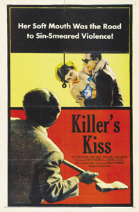 """Killer's Kiss (United Artists, 1955). One Sheet (27"""" X 41""""). This film noir offering was the third film that S..."""
