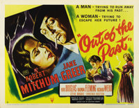 """Out of the Past (RKO, 1947). Half Sheet (22"""" X 28""""). Style A. The blueprint for film noirs of the late 40s and..."""