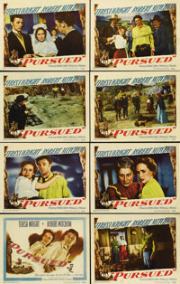 """Pursued (Warner Brothers, 1947). Lobby Card Set of 8 (11"""" X 14""""). Robert Mitchum is an amnesiac being chased b..."""