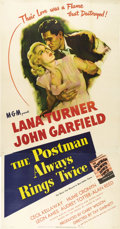 "Movie Posters:Film Noir, The Postman Always Rings Twice (MGM, 1946). Three Sheet (41"" X81""). James M. Cain's shocking crimer told a gritty story of ..."
