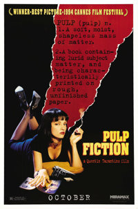 """Pulp Fiction (Miramax, 1994). One Sheet (27"""" X 41"""") Advance. Quentin Tarantino directs one of the most influen..."""
