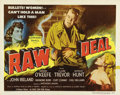"""Movie Posters:Film Noir, Raw Deal (Eagle Lion Films, 1948). Half Sheet (22"""" X 28""""). Greatimages of Dennis O'Keefe, Marsha Hunt and Claire Trevor fro..."""