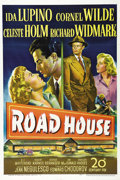 "Movie Posters:Film Noir, Road House (20th Century Fox, 1948). One Sheet (27"" X 41""). Classicfilm noir artwork highlights this beautiful late 1940's ..."