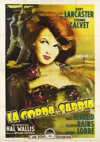 "Rope of Sand (Paramount, R-1955). Italian 4 - Folio (55"" X 78""). An early re-release in Italy of this film noi..."
