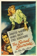 """Movie Posters:Thriller, The Spiral Staircase (RKO, 1946). One Sheet (27"""" X 41""""). Dorothy McGuire shines in her role as a mute housekeeper in the hom..."""