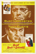 """Movie Posters:Drama, Sweet Smell of Success (United Artists, 1957). One Sheet (27"""" X41""""). Burt Lancaster and Tony Curtis star in this hard-hitti..."""