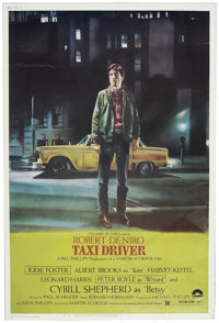 "Taxi Driver (Columbia, 1976). Poster (40"" X 60""). Martin Scorsese's look into a cab driver's life and his desc..."