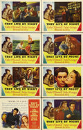 "Movie Posters:Crime, They Live by Night (RKO, 1948). Lobby Card Set of 8 (11"" X 14""). Aninspiration to films like ""Bonnie and Clyde,"" ""Breathles..."