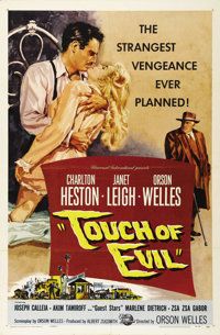 "Touch Of Evil (Universal International, 1958). One Sheet (27"" X 41""). One of Orson Welles' masterpieces, the f..."
