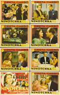 "Movie Posters:Comedy, Ninotchka (MGM, 1939). Lobby Card Set of 8 (11"" X 14""). Greta Garbois the Russian bureaucrat who comes to Paris to retrieve... (Total:8 Items)"