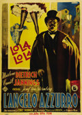 """Movie Posters:Drama, The Blue Angel (Paramount, R-c.1948). Italian 2 - Folio (39"""" X55""""). A very interesting image of Emil Jannings from the clas..."""