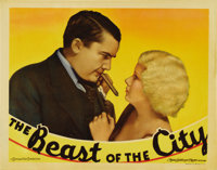 """The Beast of the City (MGM, 1932). Lobby Card (11"""" X 14""""). Authored by W.R. Burnett, who also wrote """"Litt..."""