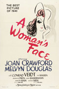 """Movie Posters:Drama, A Woman's Face (MGM, 1941). One Sheet (27"""" X 41""""). The consequencesto Joan Crawford's life are examined when she undergoes ..."""