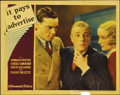 """Movie Posters:Comedy, It Pays to Advertise (Paramount, 1931). Lobby Cards (3) (11"""" X14""""). In this lot there are three seldom seen Carole Lombard ...(Total: 3 Items)"""