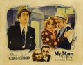 "Movie Posters:Comedy, My Man Godfrey (Universal, 1936). Lobby Card (11"" X 14""). This""screwball"" comedy offers the radiant Carole Lombard in her d..."