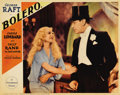 """Movie Posters:Drama, Bolero (Paramount, 1934). Lobby Cards (3) (11"""" X 14""""). George Raftis a dancer with an ego who fires all his partners -- unt...(Total: 3 Items)"""