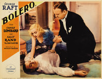 "Bolero (Paramount, 1934). Lobby Cards (3) (11"" X 14""). George Raft is Raoul, a dancer who will stop at nothing..."