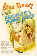 """Movie Posters:Comedy, Marriage Is a Private Affair (MGM, 1944). One Sheet (27"""" X 41"""").One of the most beautiful images of Lana Turner from any of..."""