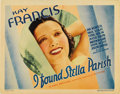 "Movie Posters:Drama, I Found Stella Parrish (Warner Brothers, 1935). Title Card (11"" X14""). Here is a seldom seen Title Card with a radiant Kay ..."