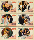 "Movie Posters:Drama, I Loved a Woman (Warner Brothers - First National, 1933). LobbyCards (6) (11"" X 14""). Meat packer Edward G. Robinson and op...(Total: 6 Items)"