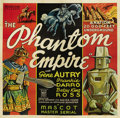 "Movie Posters:Science Fiction, The Phantom Empire (Mascot, 1935). Six Sheet (81"" X 81""). If you ask anyone born before 1926 what was the most prevalent mem..."