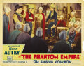 "The Phantom Empire (Mascot, 1935). Lobby Cards (3) (11"" X 14""). The first card shows Autry swearing in Smiley..."