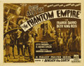 "Movie Posters:Science Fiction, The Phantom Empire (Mascot, 1935). Title Lobby Card (11"" X 14""). Aspacy combination of Western, music and science fiction, ..."