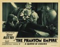 "Movie Posters:Science Fiction, The Phantom Empire (Mascot, 1935). Lobby Card (11"" X 14""). This great card shows all four of the stars of this classic seria..."