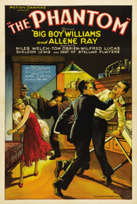 """The Phantom (Action Pictures, 1931). One Sheet (27"""" X 41""""). The setting is the old dark house, and people are..."""