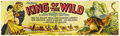 "Movie Posters:Serial, King of the Wild (Mascot, 1931). Banner (35.5"" x 118""). Anoutstanding stone lithograph weatherproof muslin Banner for this..."