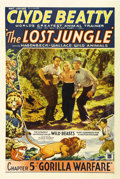 """Movie Posters:Adventure, The Lost Jungle (Mascot, 1934). One Sheet (27"""" X 41""""). ClydeBeatty, the great animal trainer, stars. Great animal graphics..."""