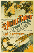 "Movie Posters:Serial, Jungle Mystery (Universal, 1932). One Sheet (27"" X 41""). Western star Tom Tyler temporarily took off his six shooters and to..."