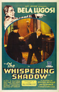 "Movie Posters:Crime, The Whispering Shadow (Mascot, 1933). One Sheet (27"" X 41"") Chapter3 -- ""The All-Seeing Eye."" This twelve-part serial stars..."