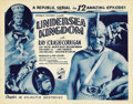 "Movie Posters:Science Fiction, Undersea Kingdom (Republic, 1936). Title Lobby Card (11"" X 14"") andLobby Cards (4) (11"" X 14"") Chapter 10 -- ""Atlantis Dest... (Total:5 Items)"