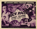 "Movie Posters:Science Fiction, Buck Rogers (Universal, 1939). Title Lobby Card (11"" X 14"") and Lobby Cards (3) (11"" X 14""). This action-packed serial stars... (Total: 4 Items)"