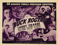 """Buck Rogers (Universal, 1939). Title Lobby Card (11"""" X 14"""") and Lobby Cards (3) (11"""" X 14""""). This ac..."""