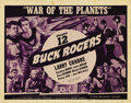 "Movie Posters:Science Fiction, Buck Rogers (Universal, 1938). Title Card and Lobby Card (1) (11"" X 14""). Chapter 12, ""War of the Planets."" Universal, build... (Total: 2 Items)"