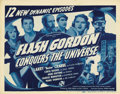"Movie Posters:Serial, Flash Gordon Conquers the Universe (Universal, 1940). Title LobbyCards (2) and Lobby Cards (2) (11"" X 14""). Buster Crabbe a...(Total: 4 Items)"