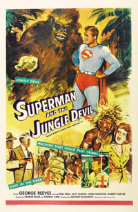"""Superman and the Jungle Devil (20th Century Fox, 1954). One Sheet (27"""" X 41""""). Three episodes of TV's """"Th..."""