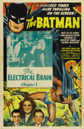 "Movie Posters:Serial, The Batman (Columbia, 1943). One Sheet (27"" X 41""). Batman's historic first screen appearance was this premier segment of a ..."