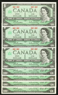 Canadian Currency: , BC-45a $1 1967, Seven Examples.. ... (Total: 7 notes)