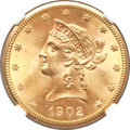 Liberty Eagles, 1902-S $10 MS65+ NGC....