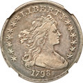 Early Dollars, 1798 $1 Large Eagle, Pointed 9, Close Date VF35 NGC. B-31, BB-115,R.5....