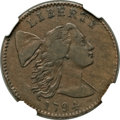 Large Cents, 1794 1C Head of 1794 VF35 NGC. CAC. S-28, B-10, R.2....